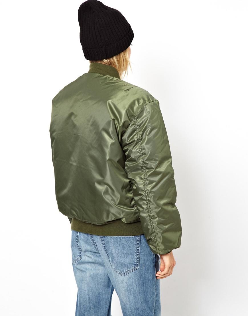 Asos Asos Reclaimed Vintage Original Ma1 Flying Jacket in Green | Lyst