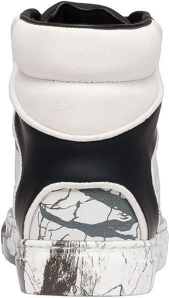 Balenciaga Sneakers Marble Effect Whiteblackgrey In Black
