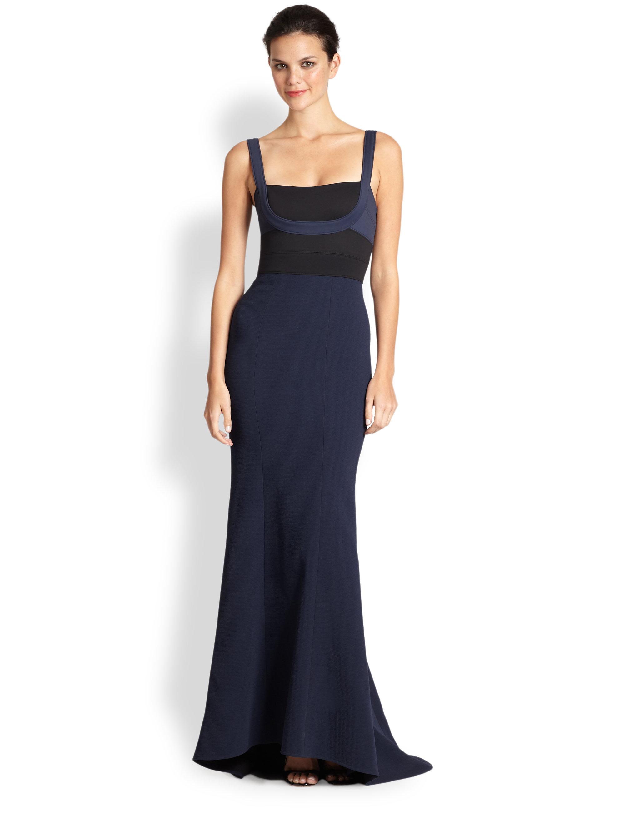 Lyst - Bcbgmaxazria Arabella Bodycon Gown in Blue