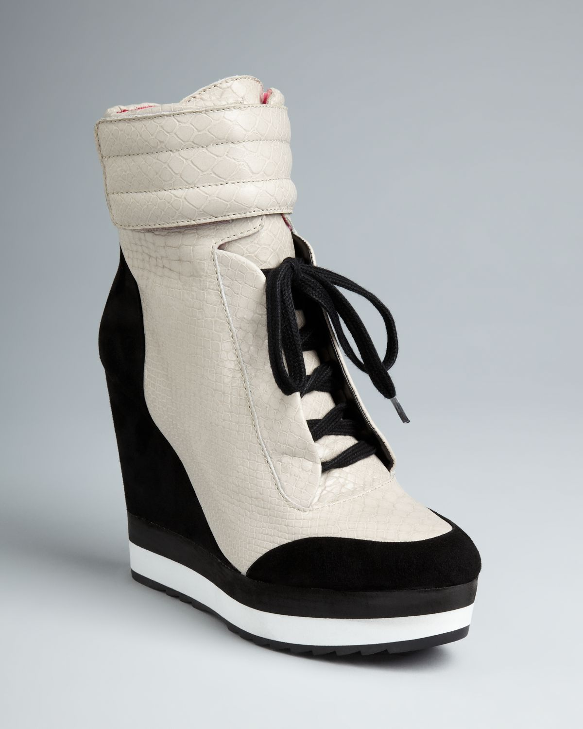 Lyst - Boutique 9 High Top Wedge Sneaker Booties Whispers ...