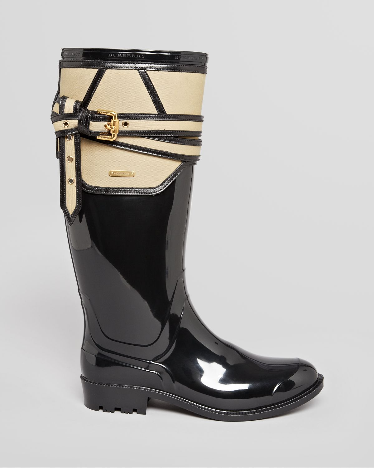 lyst burberry rain boots rain boots willesden trench in