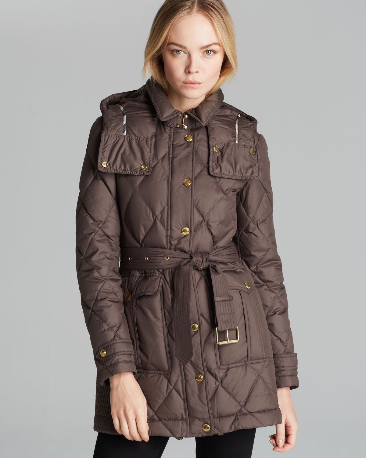 Burberry Brit Greysby Down Coat In Brown