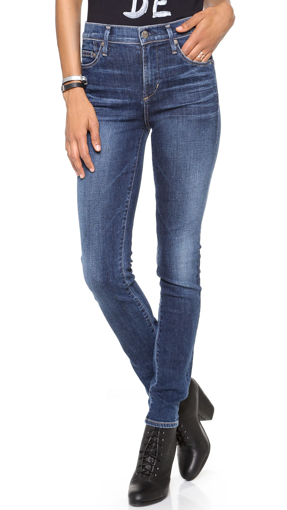 Citizens Of Humanity Rocket Denim Skinny Jeans In Blue