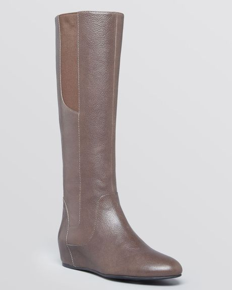 enzo angiolini wedge boots deanja in brown taupe lyst