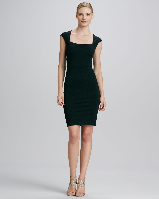 Erin Erin Fetherston Bowback Sheath Dress In Black Lyst