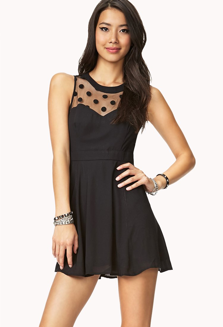 Lace panel dress forever 21