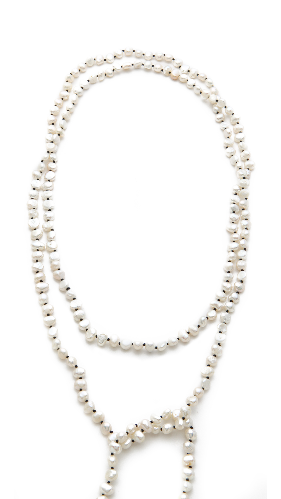 Lyst Ginette Ny Sautoir Necklace With Cultured