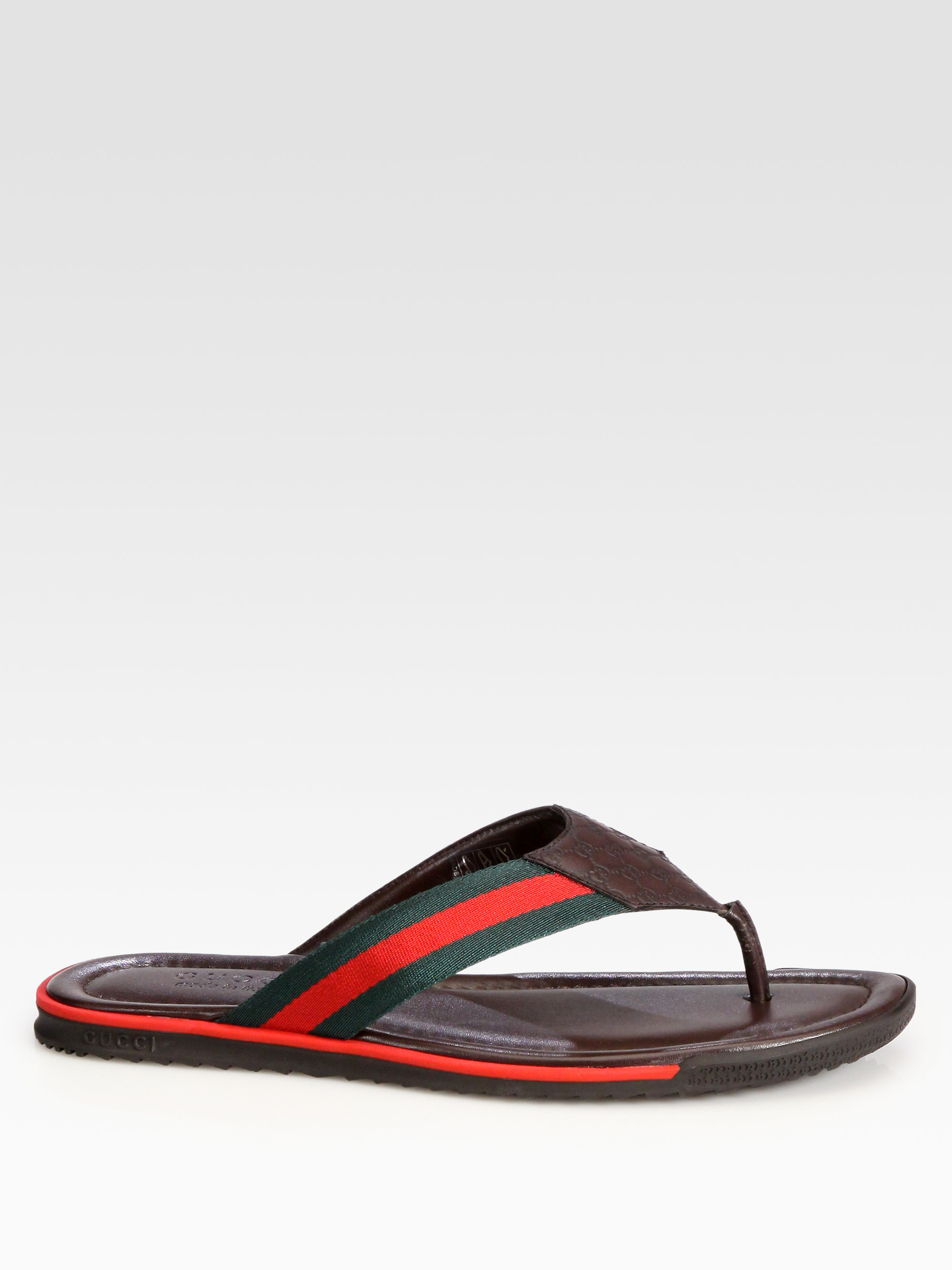 3b40be93a4cd Lyst - Gucci Thong Sandals in Brown for Men