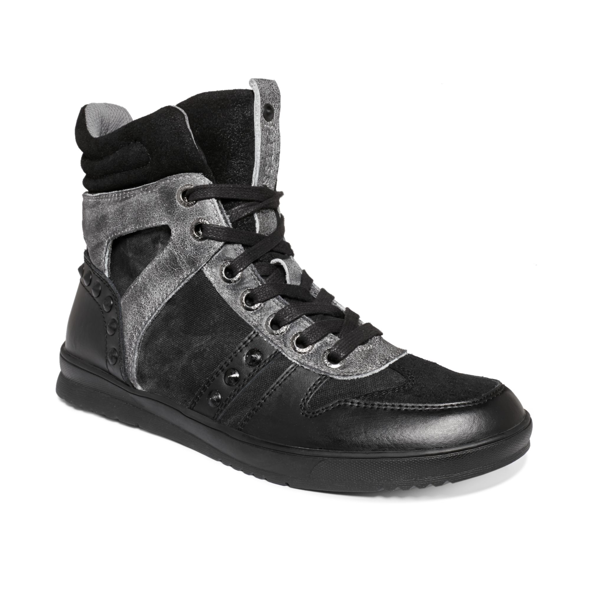 guess mens shoes tredd sneakers in black for lyst