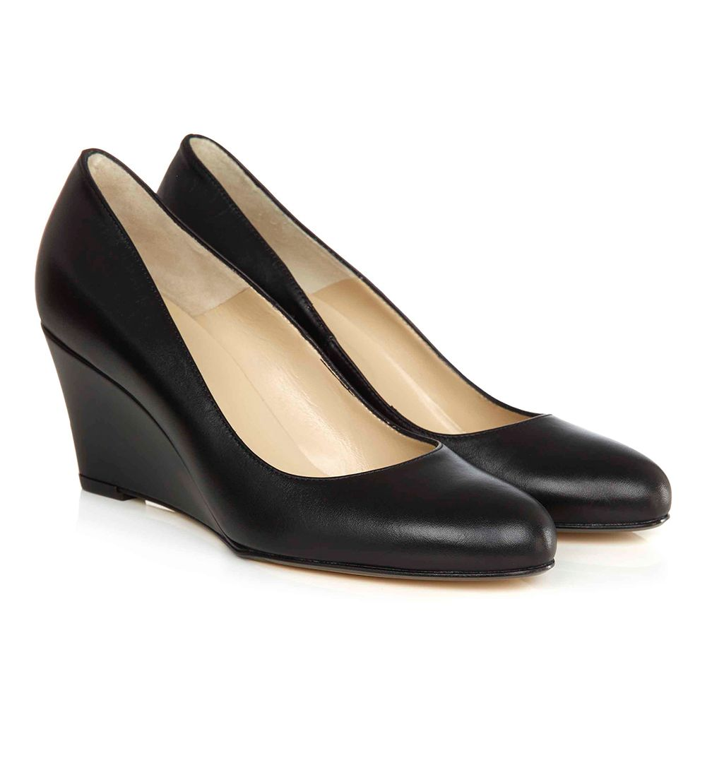 Hobbs Black Court Shoes
