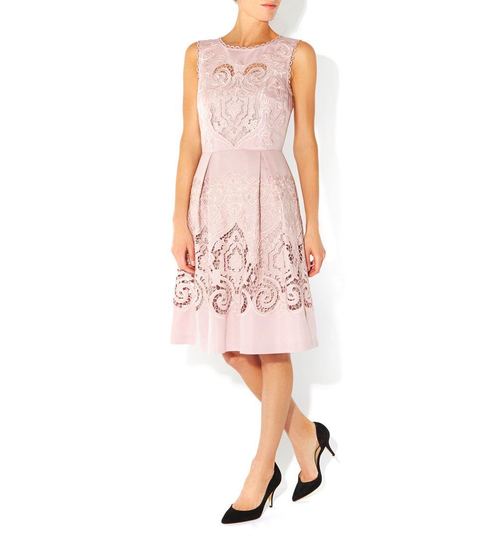 Hobbs Maida Vale Dress In Pink Lyst