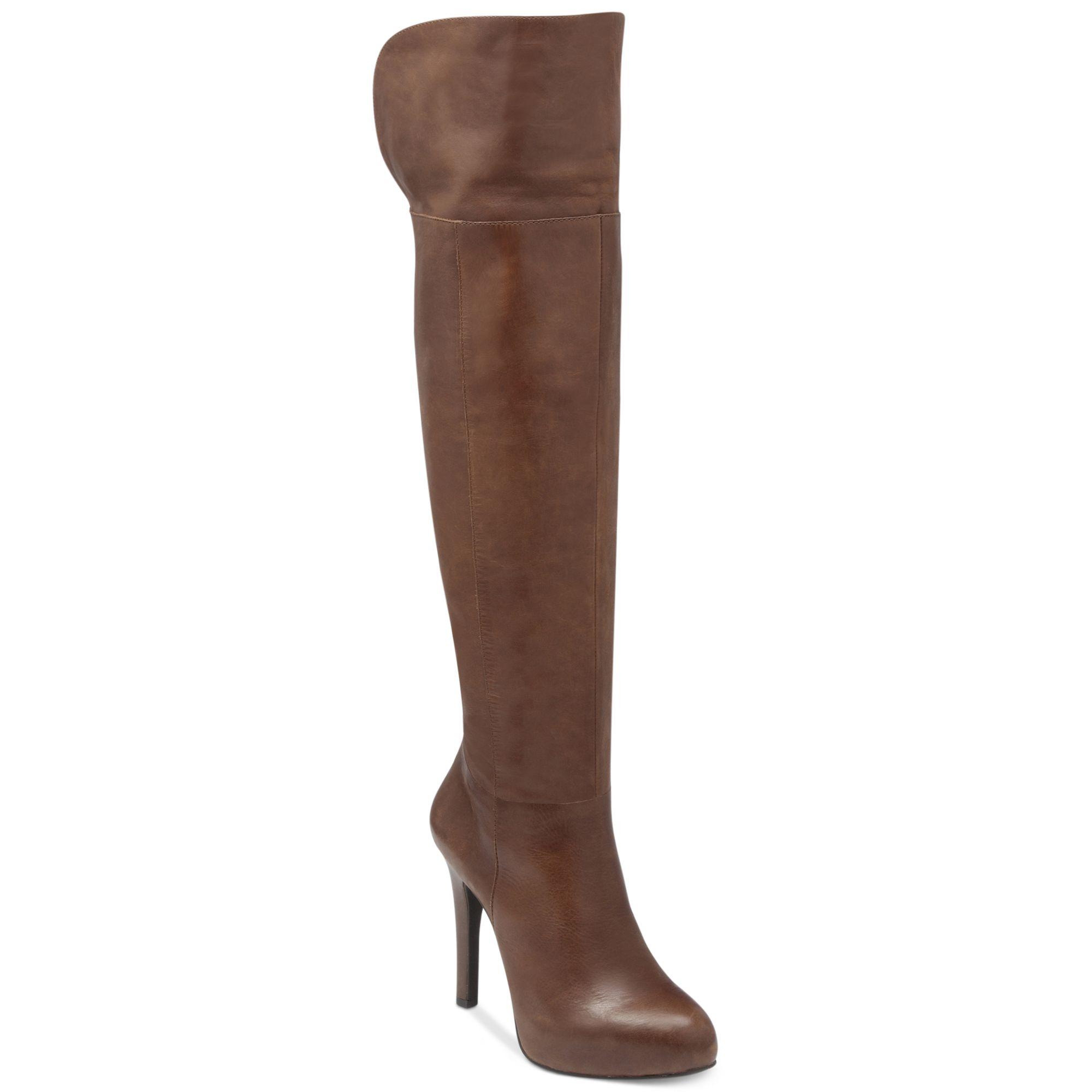 Jessica Simpson Audrey Overtheknee Platform Boots In Brown