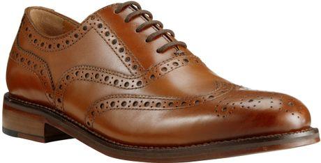 John Lewis Bentley Storm Leather Brogue Shoes in Brown for Men (Cognac) - Lyst