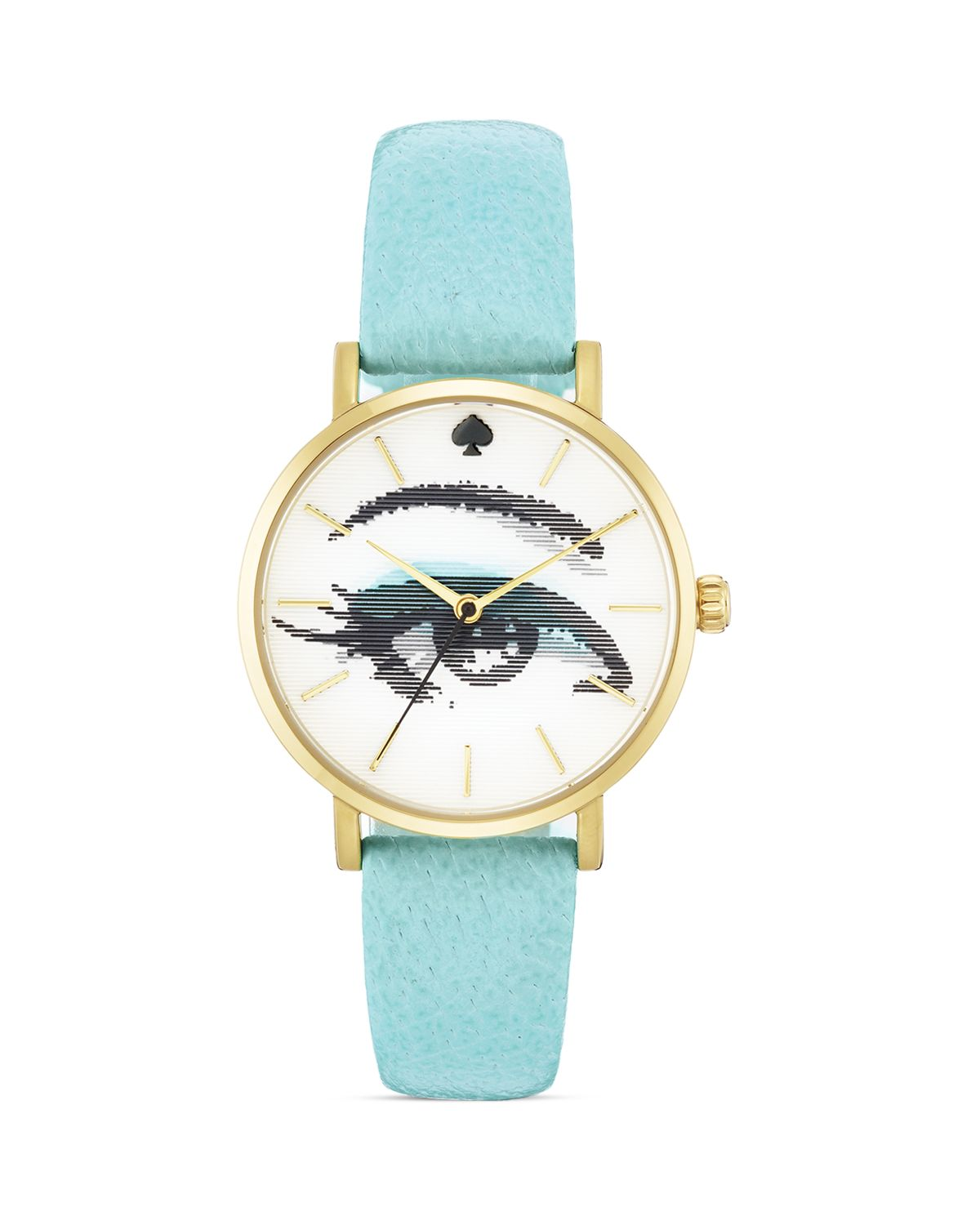 Lyst Kate Spade New York Blue Hologram Metro Watch 34mm