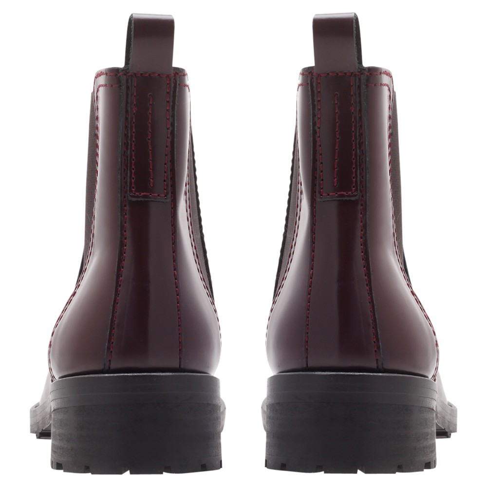 KG by Kurt Geiger Stomp Ankle Boots in Purple
