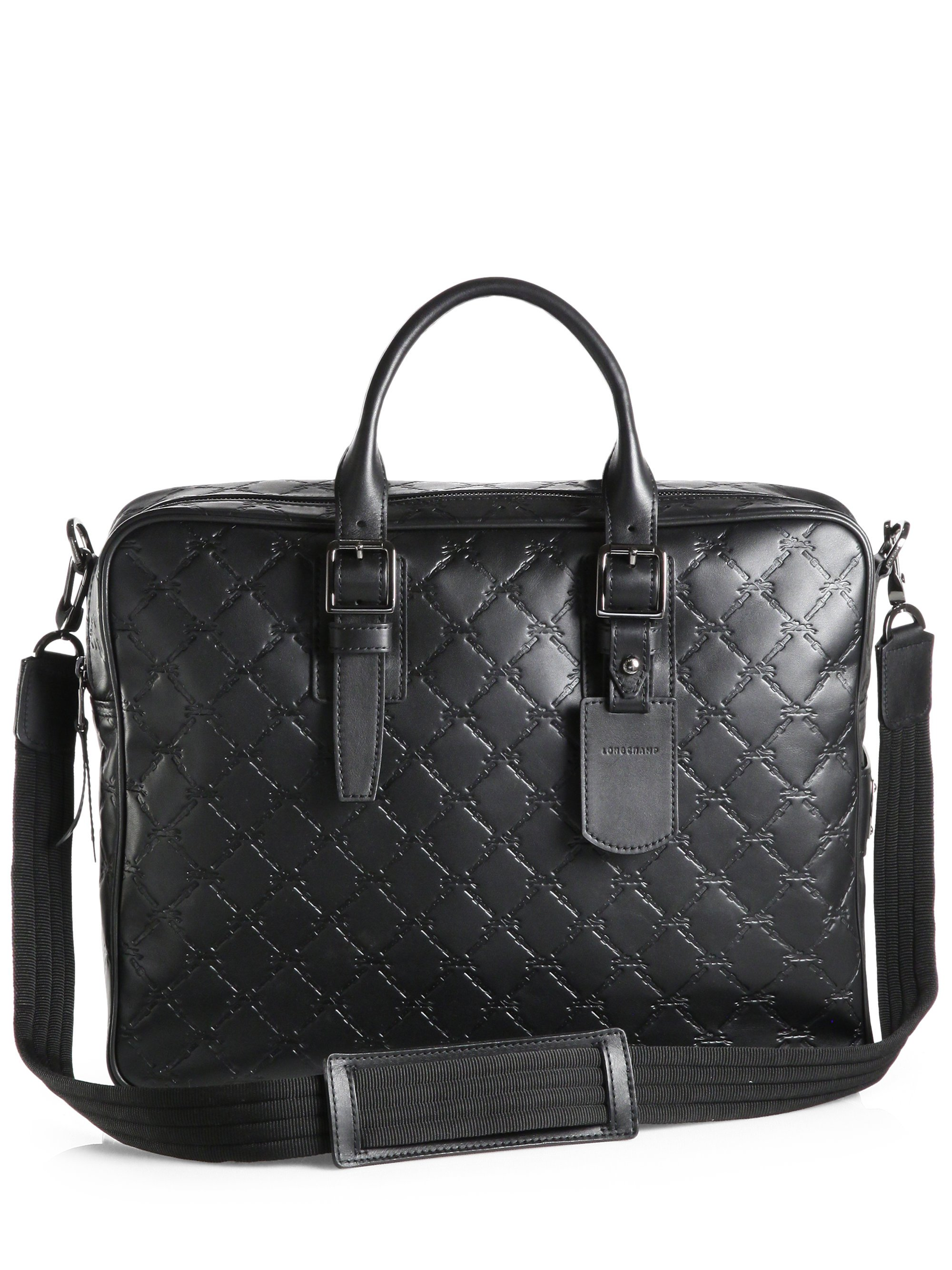 c911aa6faced Lyst - Longchamp Parisis Leather Briefcase in Black for Men