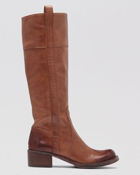 Lucky Brand Tall Boots Hibiscus In Brown Dark Camel Lyst