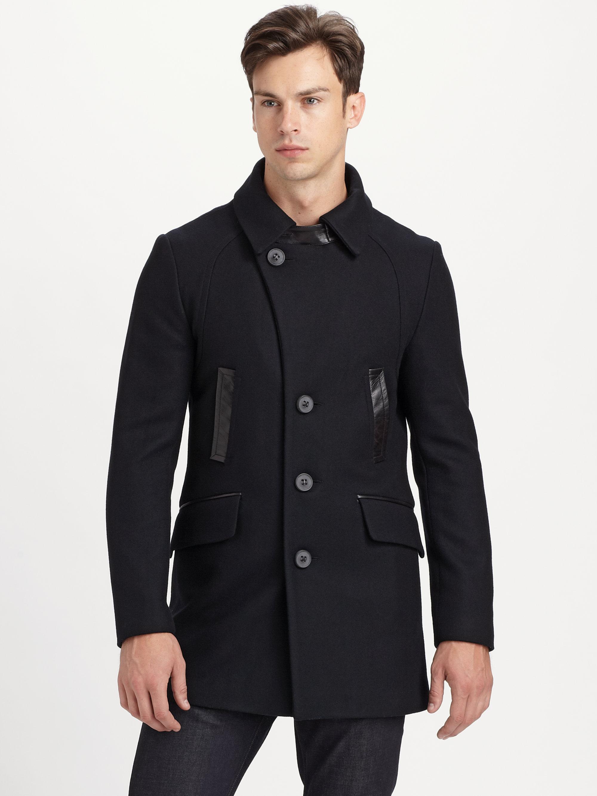 Mackage Clark Peacoat in Black for Men | Lyst