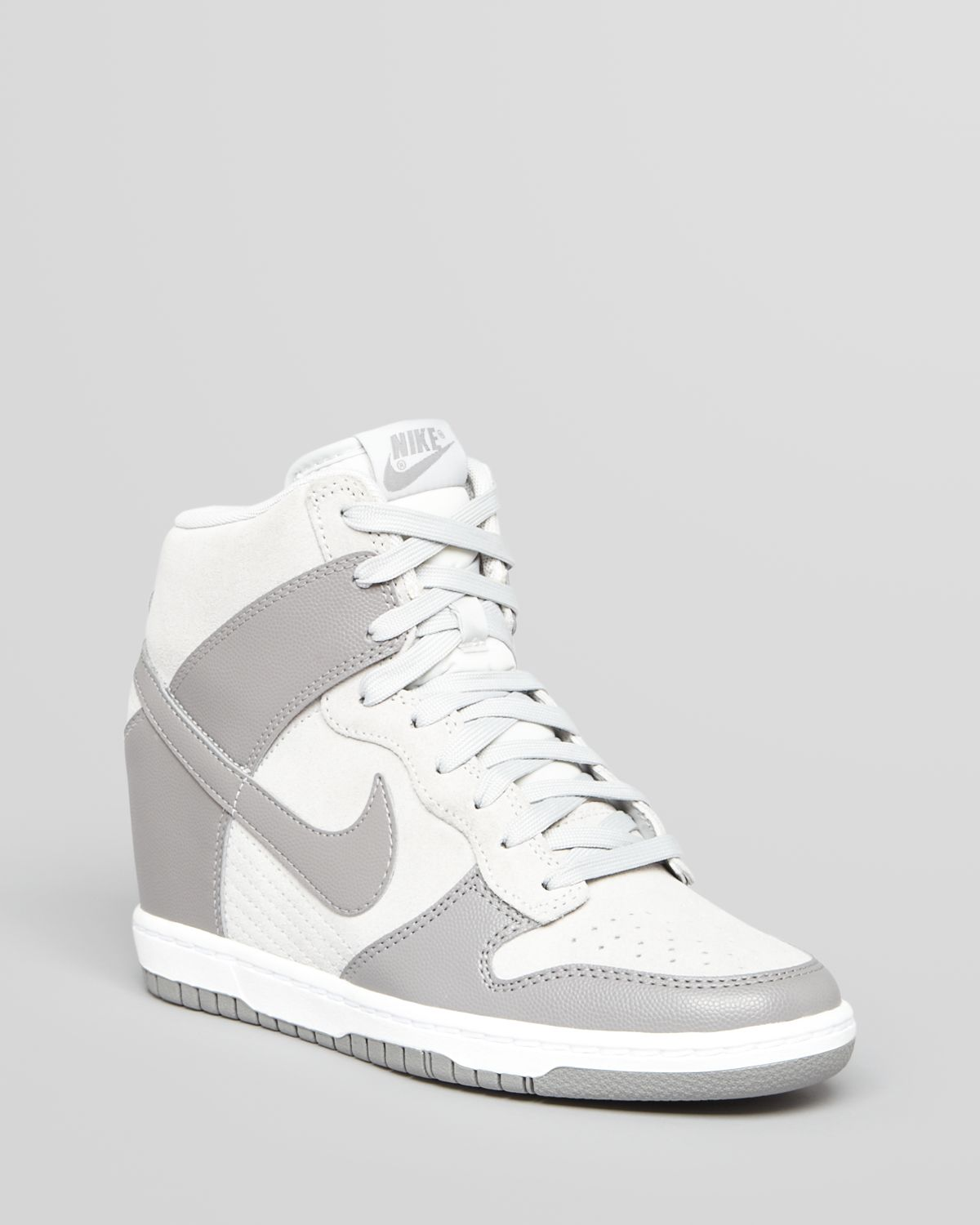 Nike High Top Lace Up Sneakers Womens Dunk Sky Hi in Gray ...
