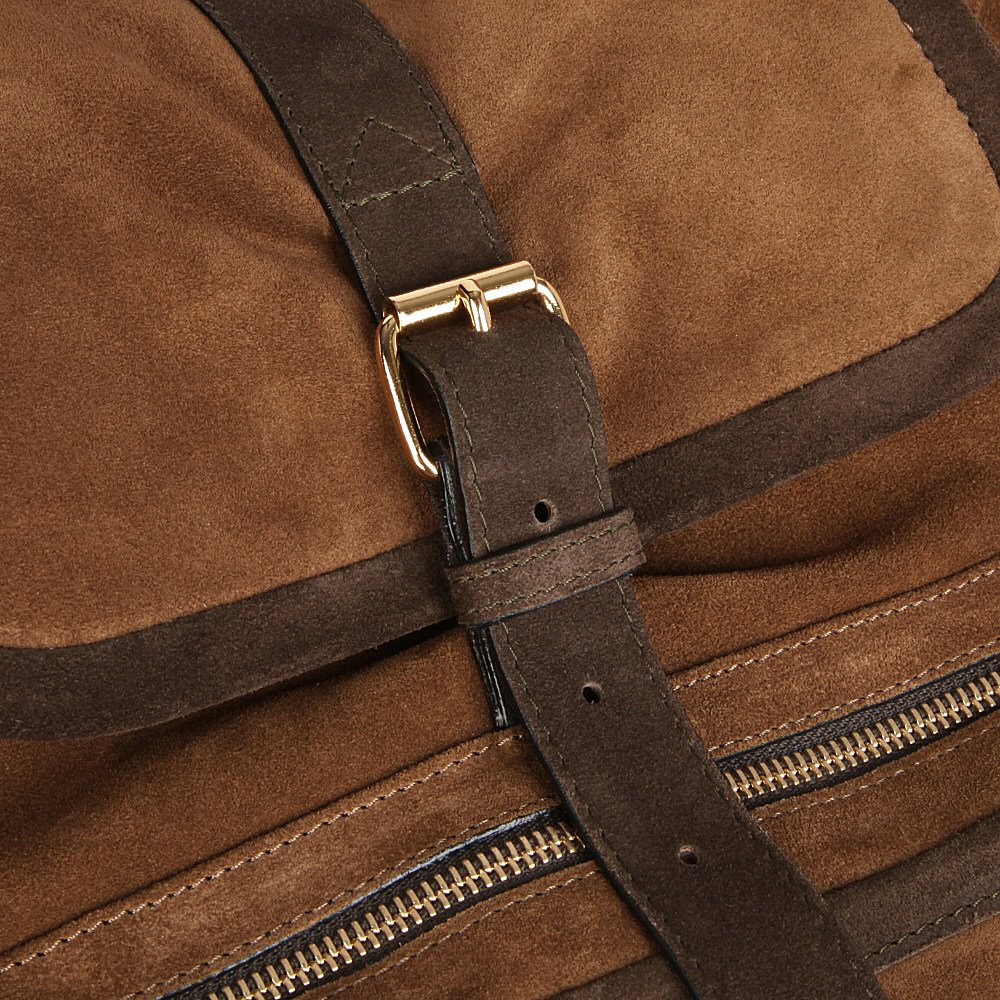 Pierre Hardy Suede Backpack in Khaki (Brown)