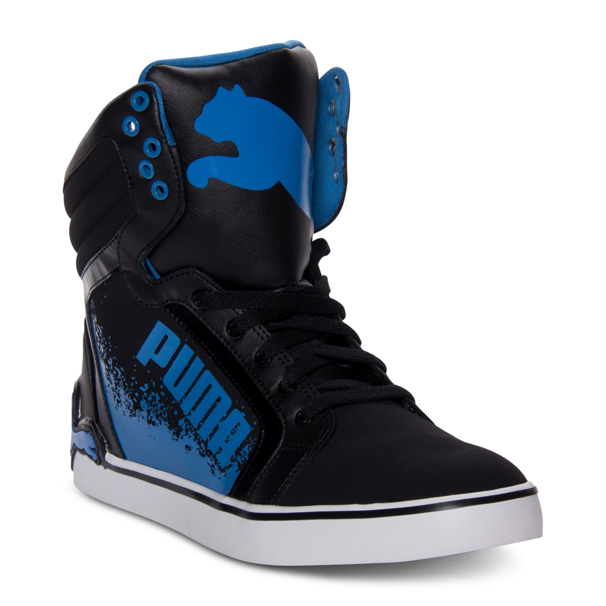 PUMA Lc Special Casual Sneakers In Black/White/Blue (Blue