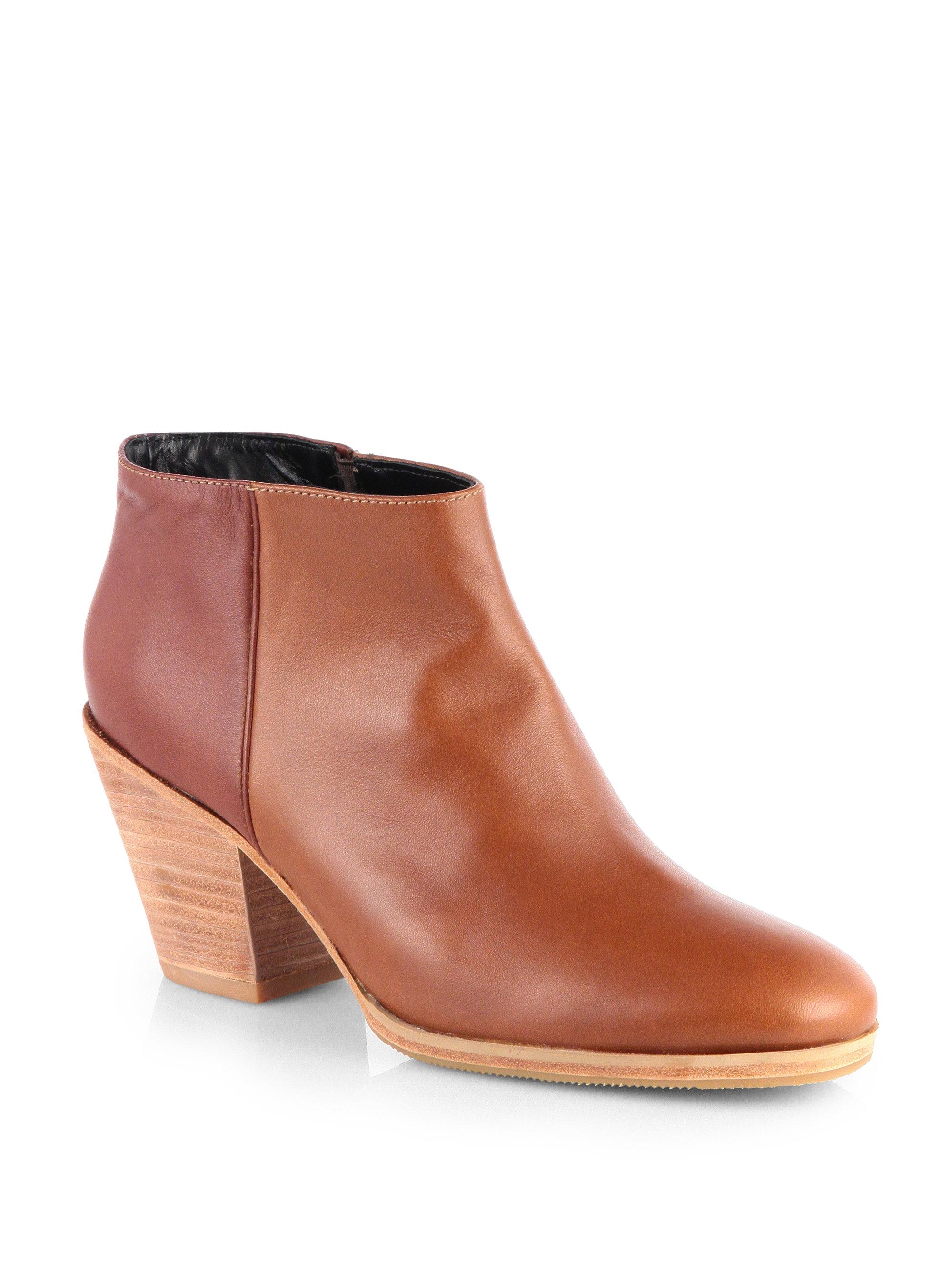 177ebec5b448d Rachel Comey Brown Mars Bicolor Leather Ankle Boots