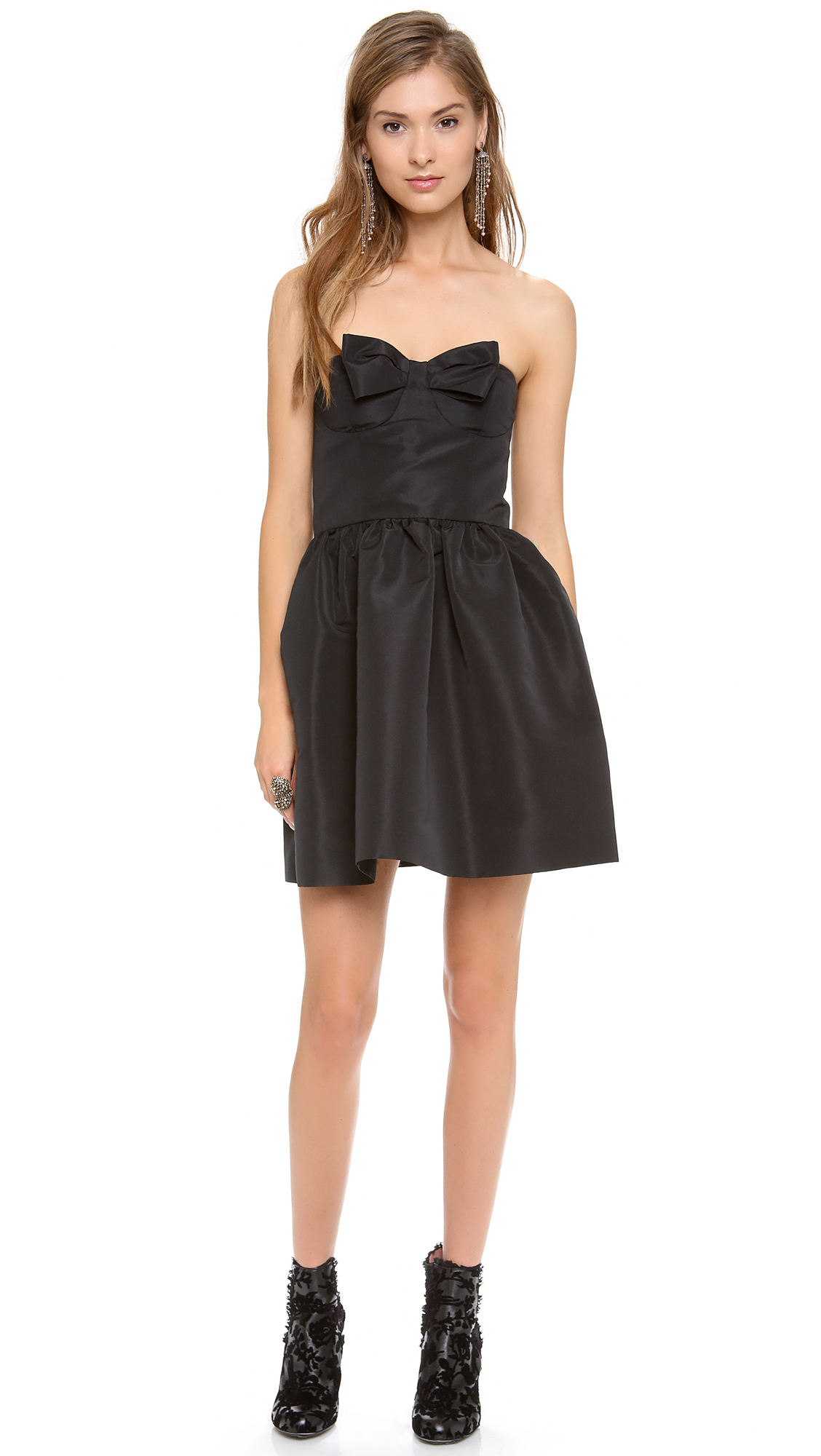 red valentino black strapless bow mini dress product 2 13465213 732513595