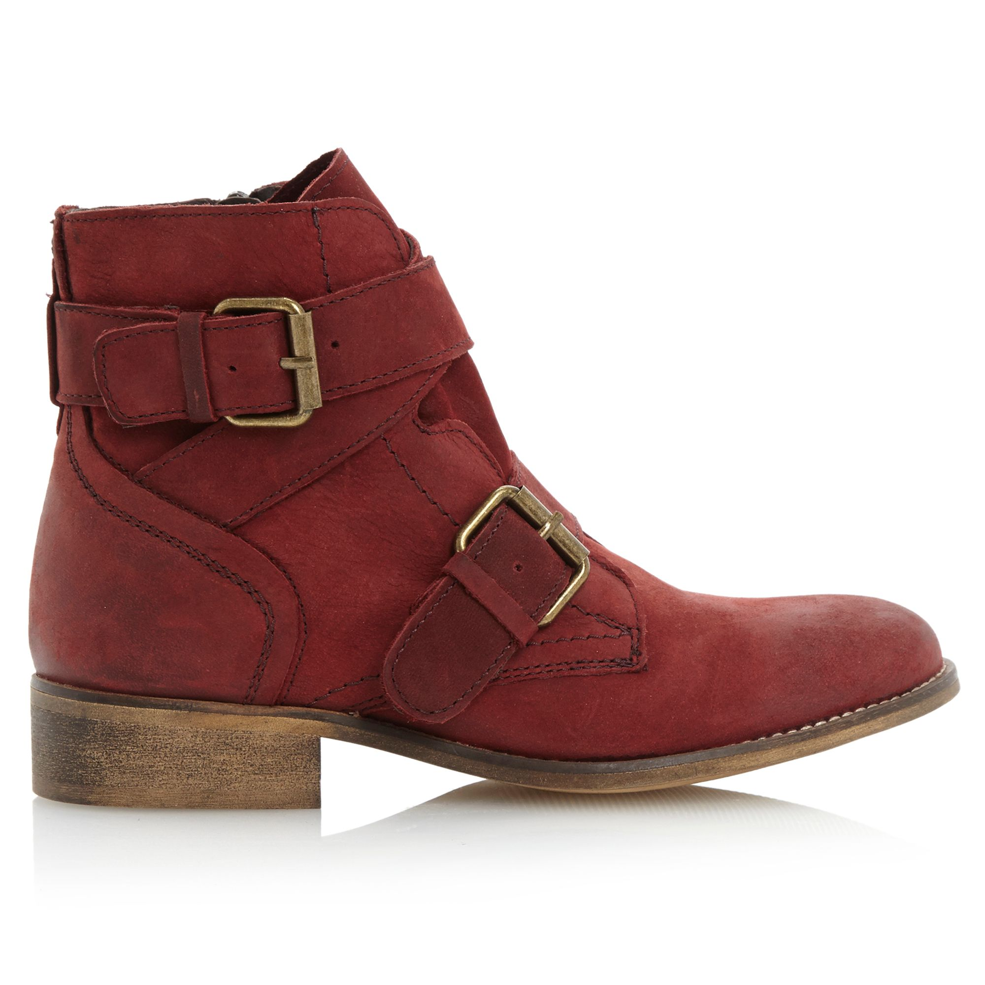 steve madden teritory buckle ankle boots in