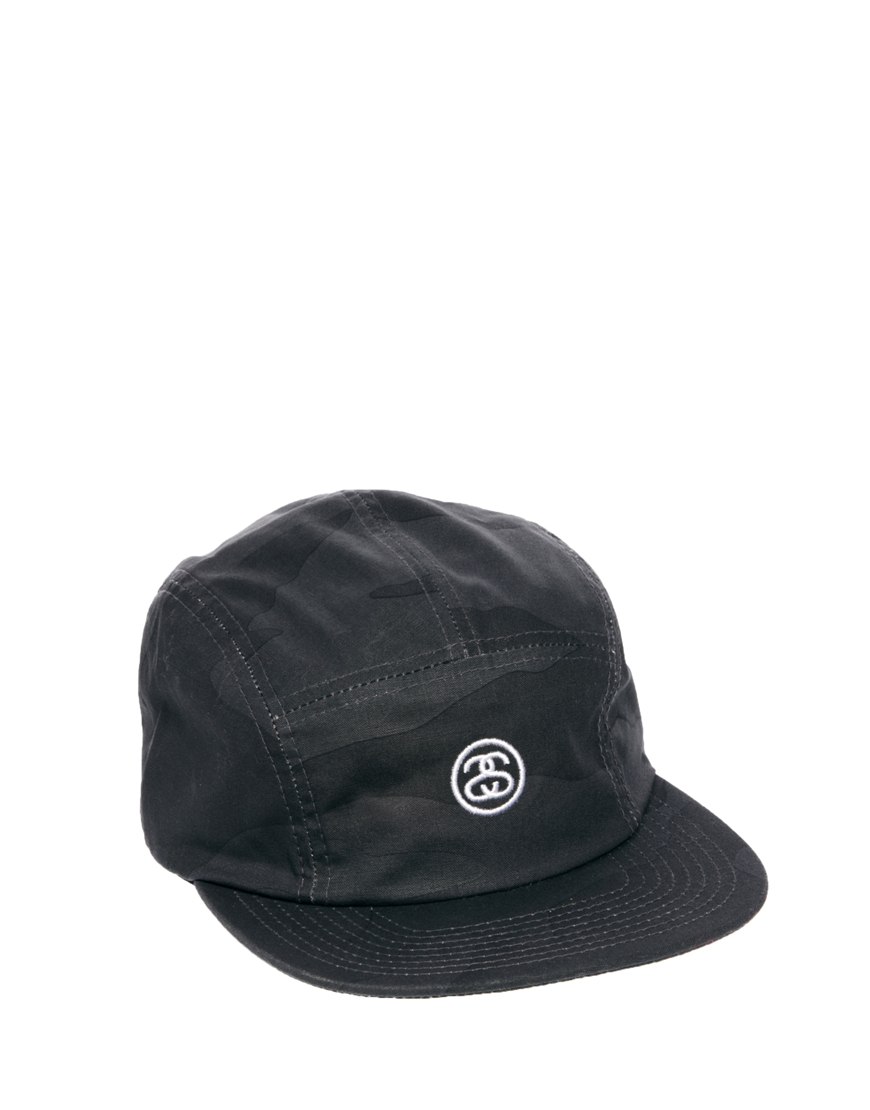 Lyst Stussy Classic Camo Ss Link 5 Panel Cap In Black