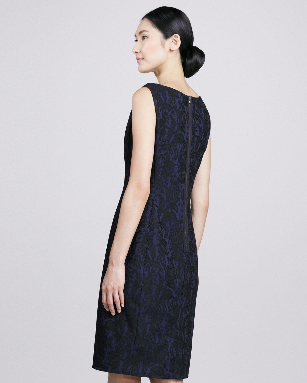 T tahari dress cali sleeveless sheath maxi