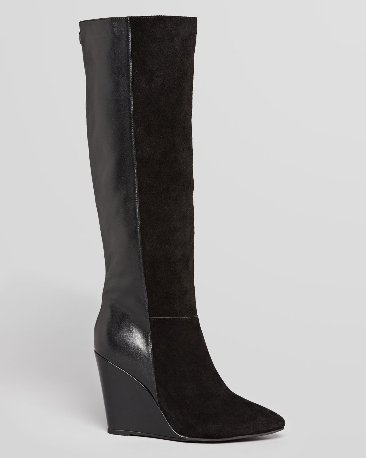 Lyst Ted Baker Tall Wedge Dress Boots Resen In Black