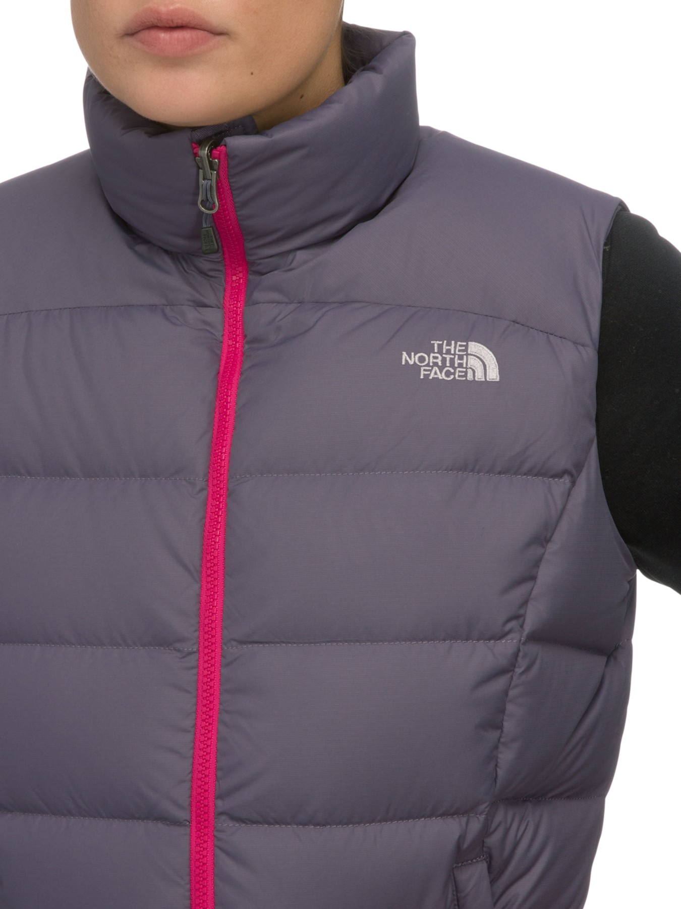 The North Face Womens Nuptse 2 Gilet in Gray - Lyst 225f4759b