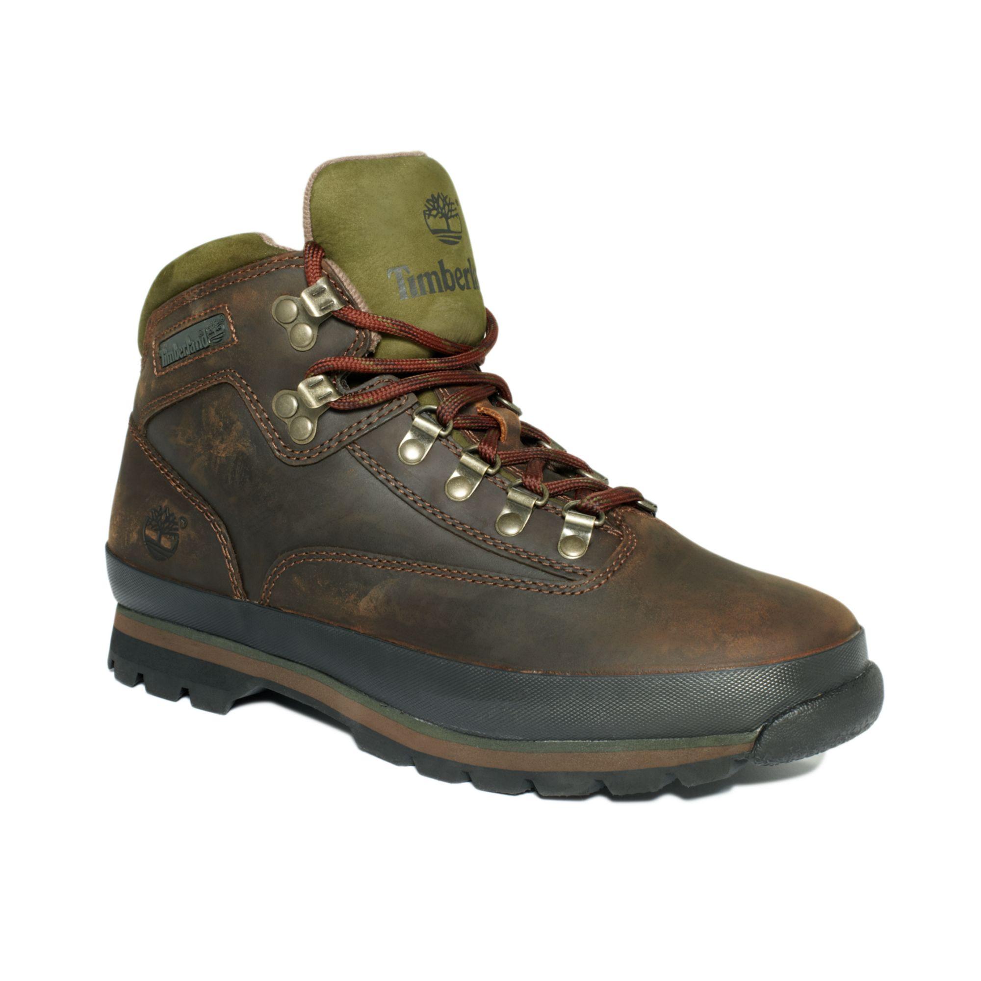 timberland men's euro hiker boots dark brown