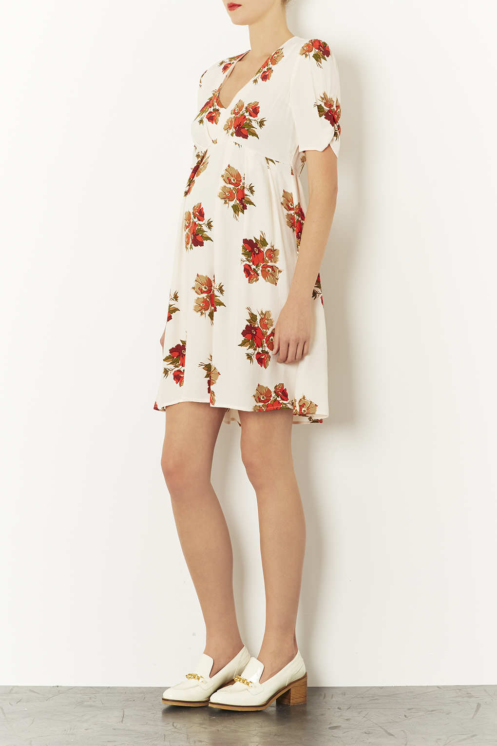 Lyst Topshop Maternity Autumn Floral Dress In Natural