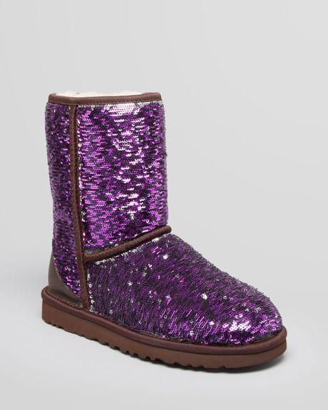 ugg boots purple sparkle