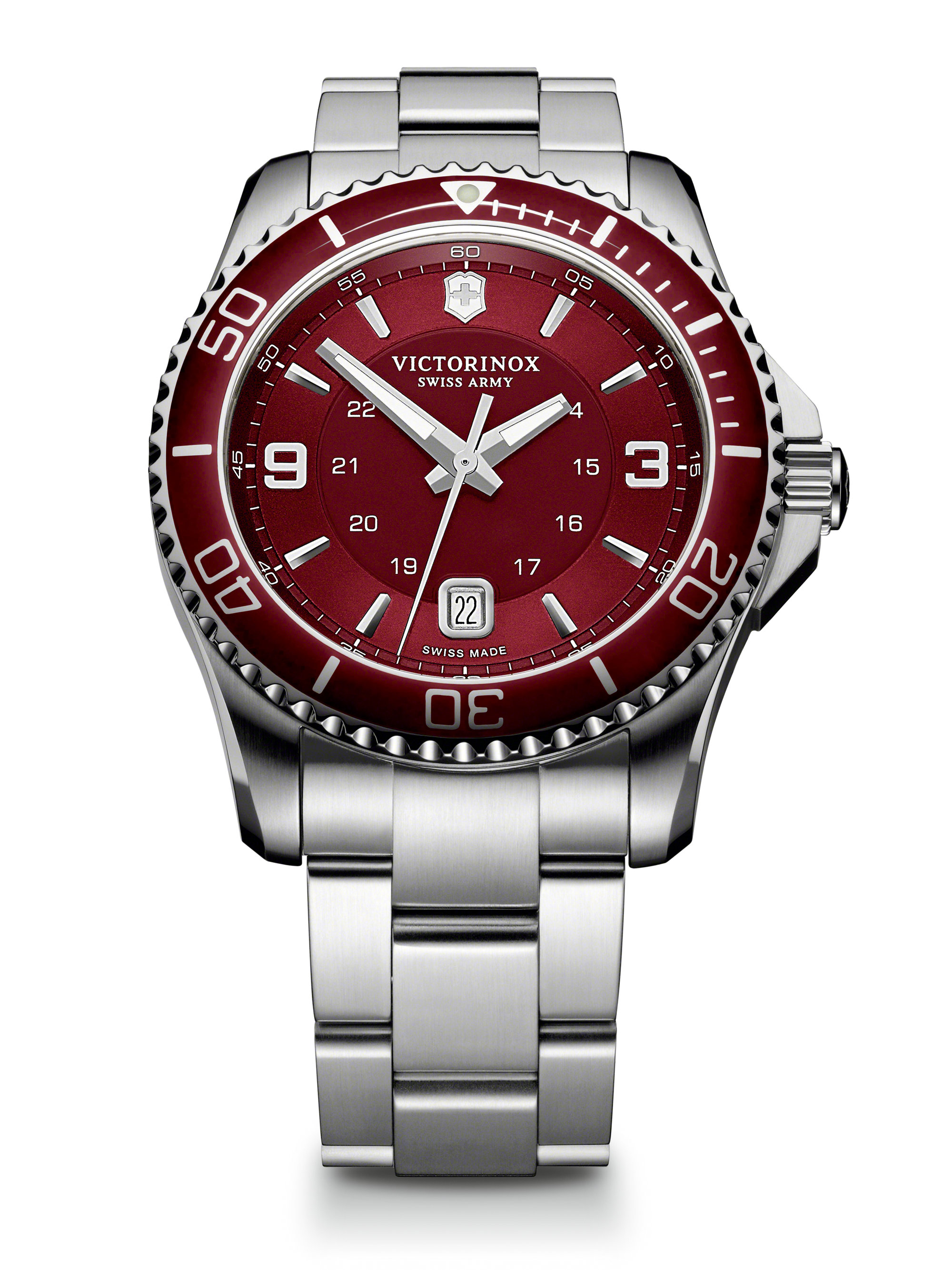 Lyst Victorinox Maverick Gs Red Dial Watch In Metallic
