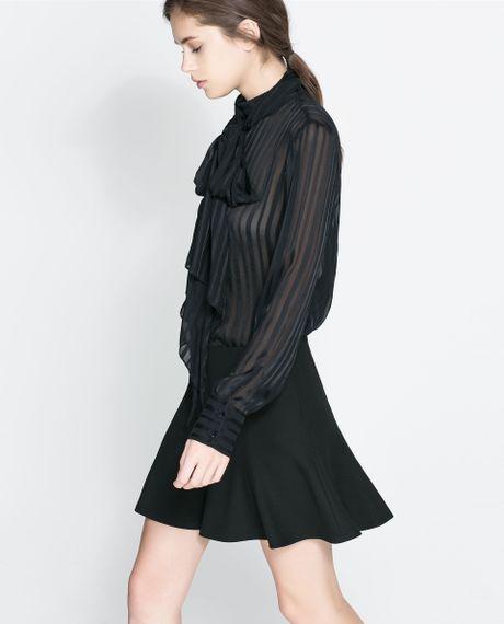 Zara Silk Blouse With Bow 118