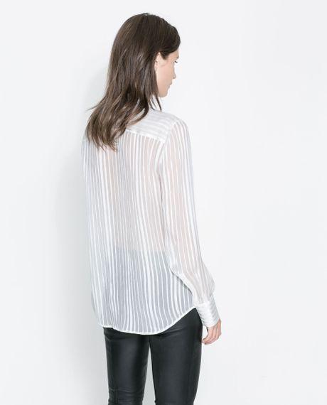 Zara Silk Blouse With Bow 35