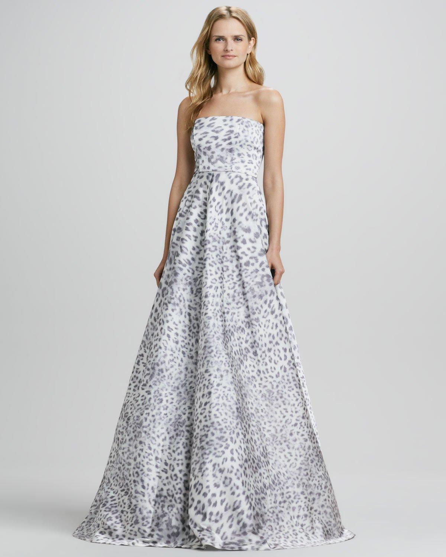 Lyst - Cusp Malene Leopard Strapless Ball Gown