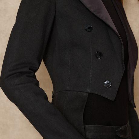 Ralph Lauren Blue Label Denim Tuxedo Jacket in Black | Lyst
