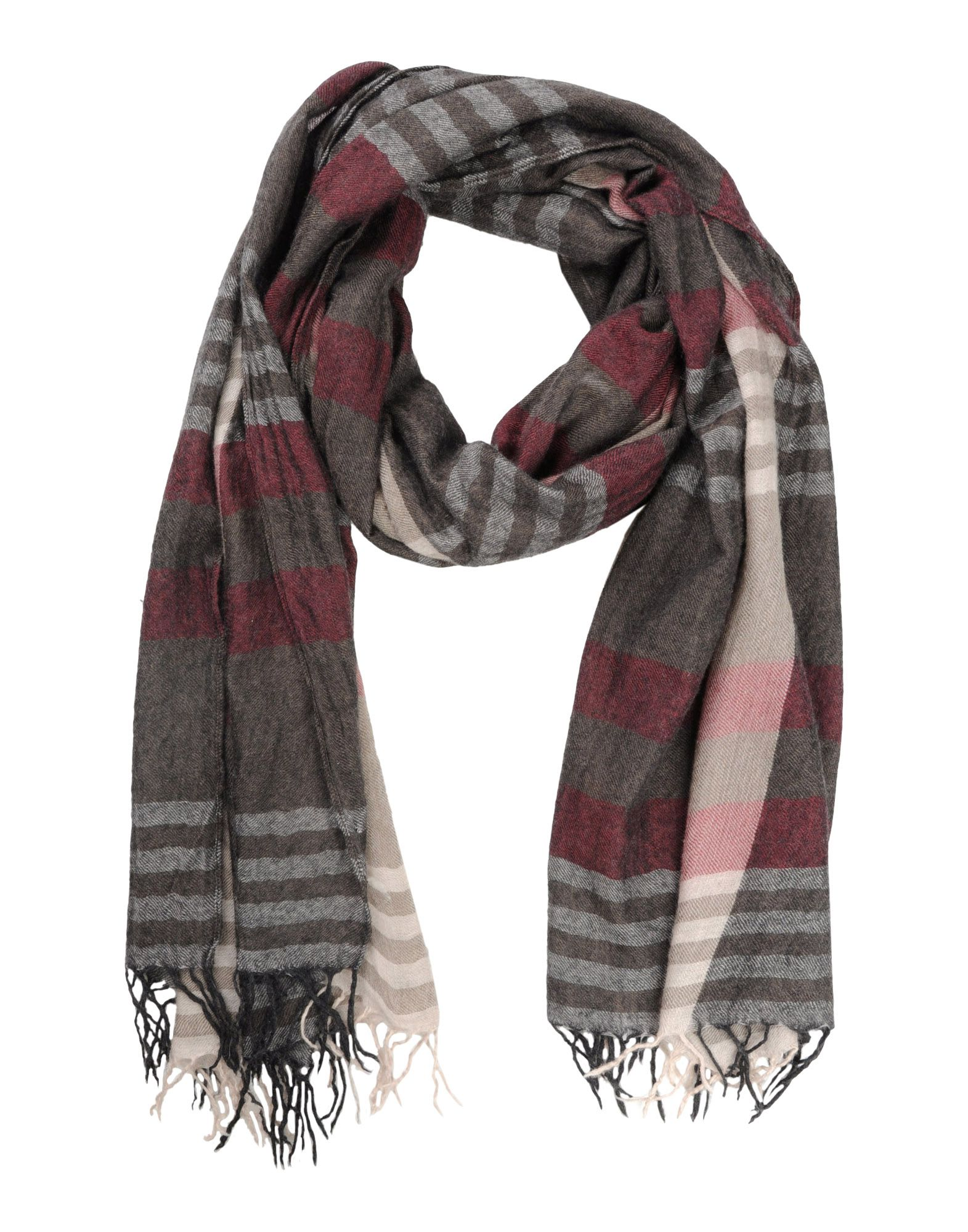 brunello cucinelli oblong scarf in brown for