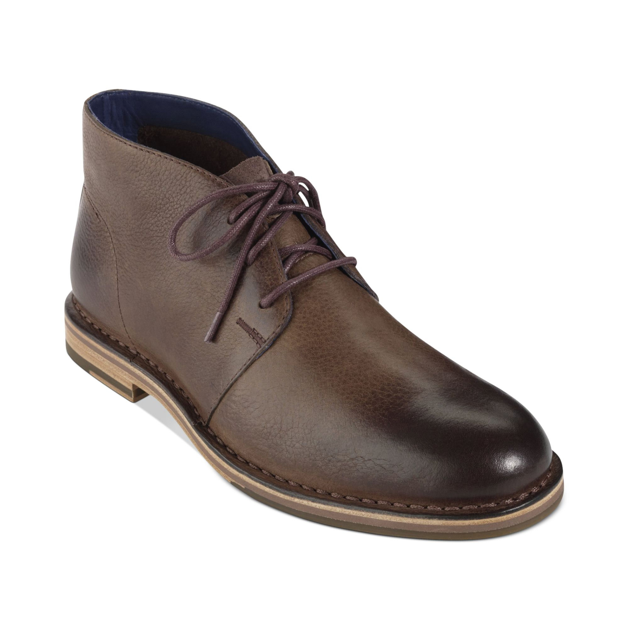 cole haan glenn chukka boots in brown for juniper