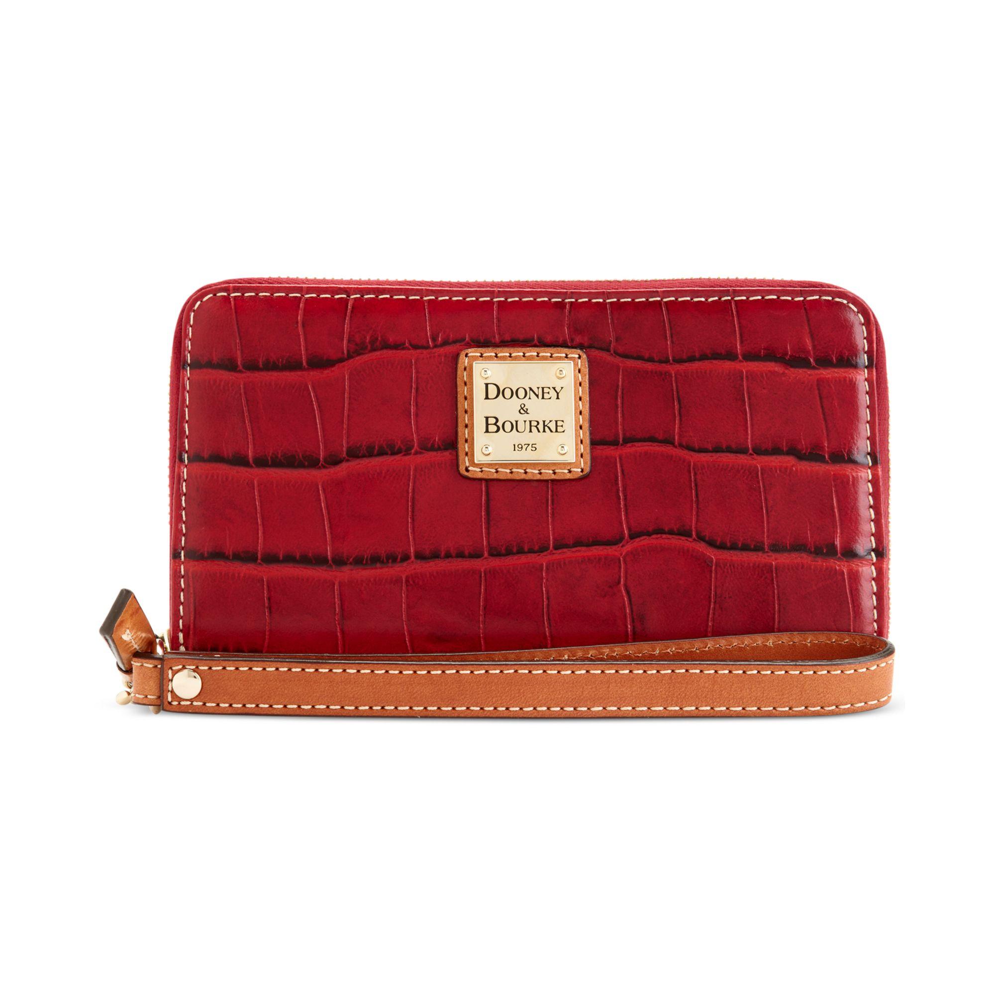 Dooney Bourke Croco Hobo Red Women Handbags Purses And Backpakcs Lord Taylor
