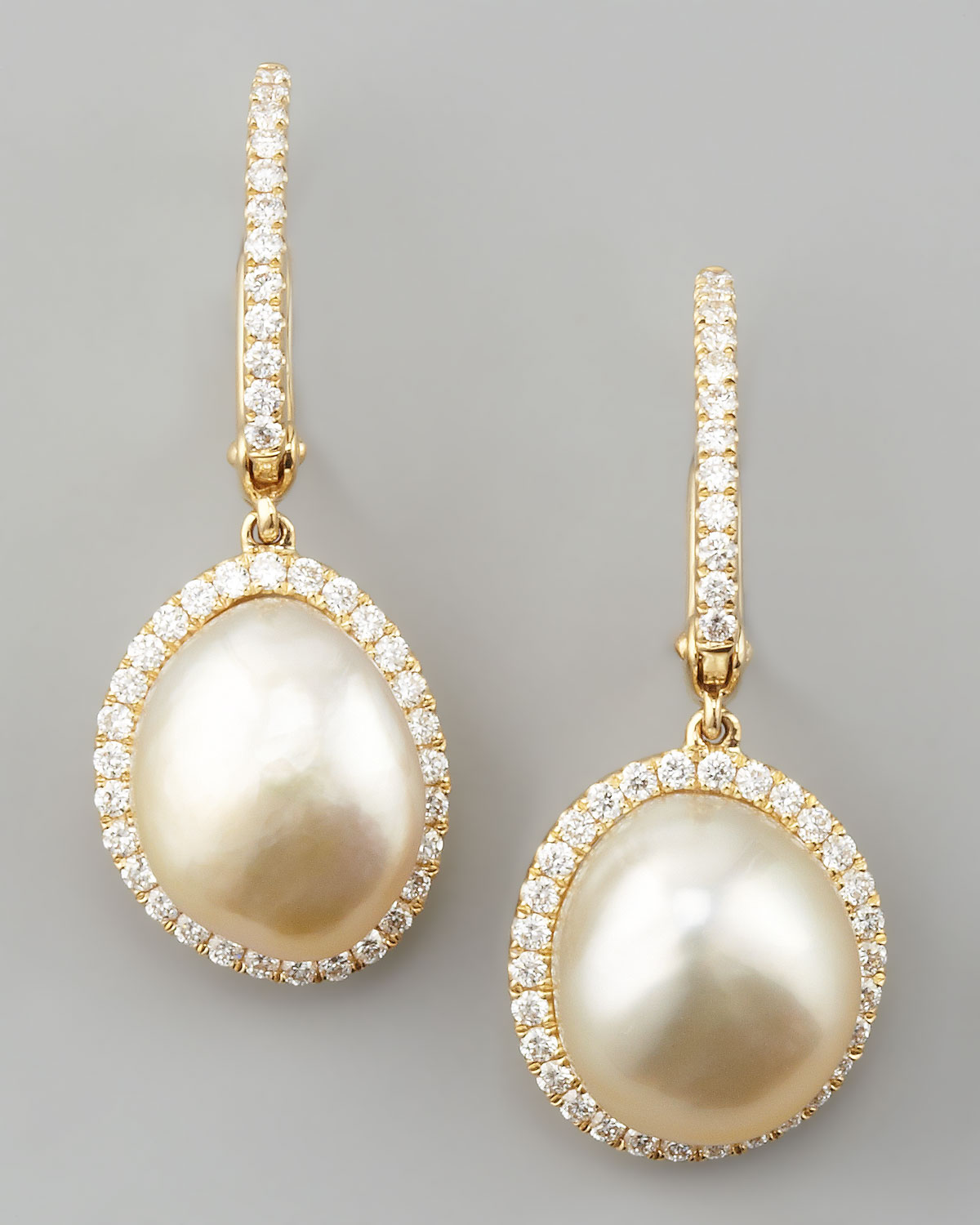 Property Brothers Apply Lyst Eli Jewels White South Sea Pearl Amp Diamond Framed