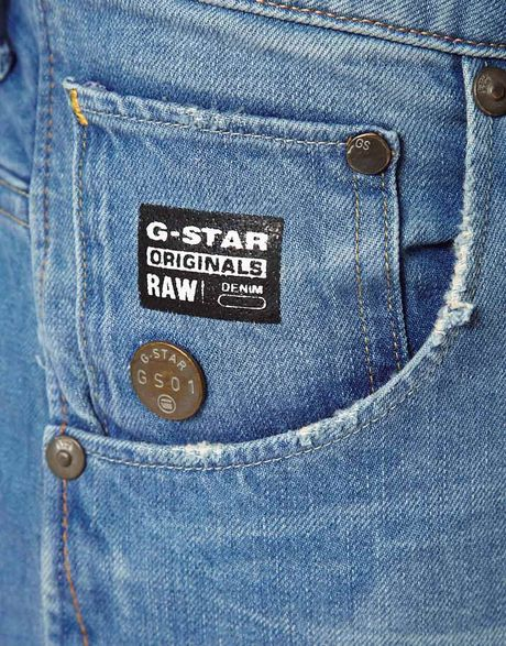 g star raw g star jeans arc 3d slim light aged in blue for. Black Bedroom Furniture Sets. Home Design Ideas