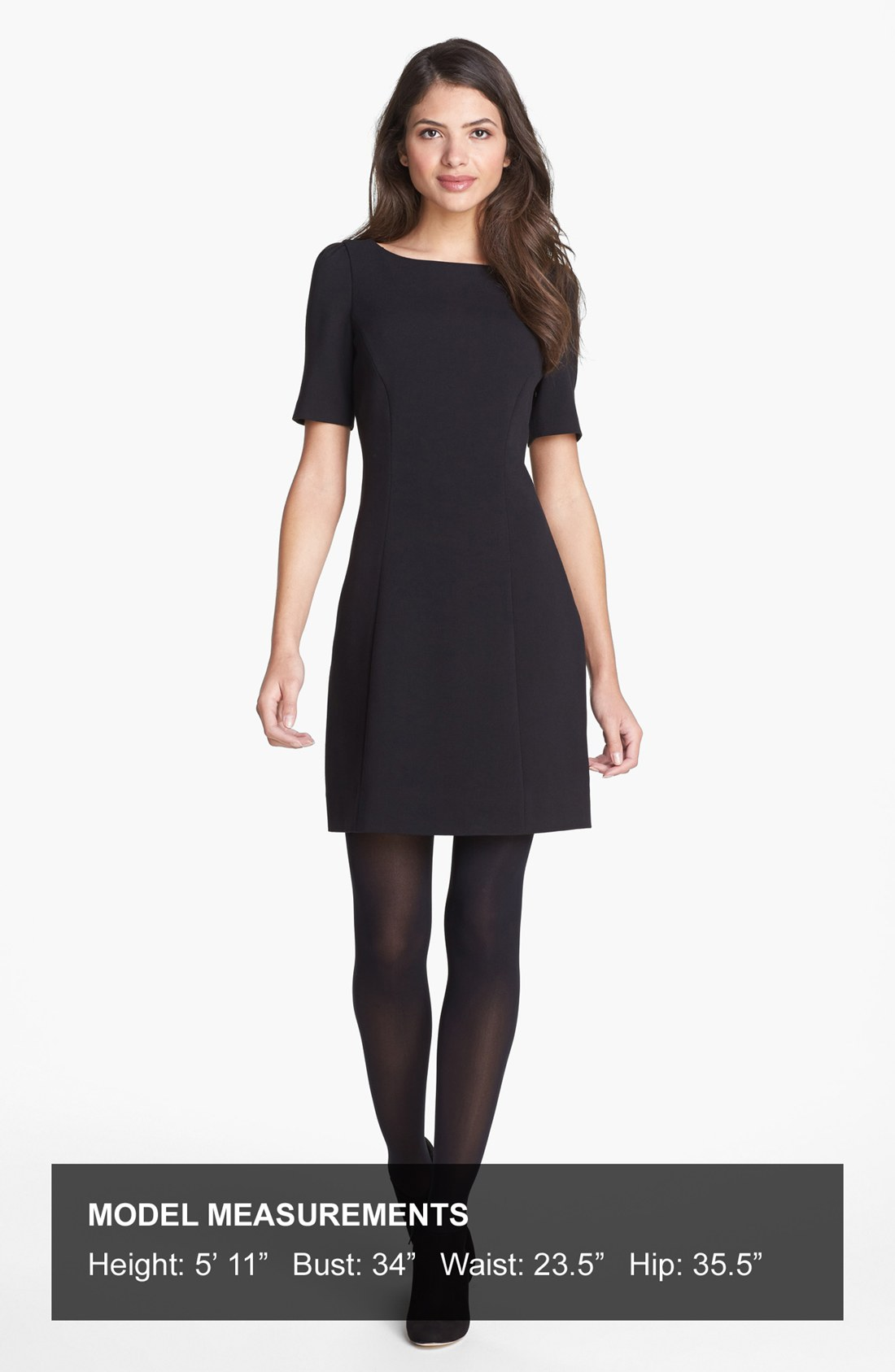 Kate spade kylie stretch aline dress in black lyst