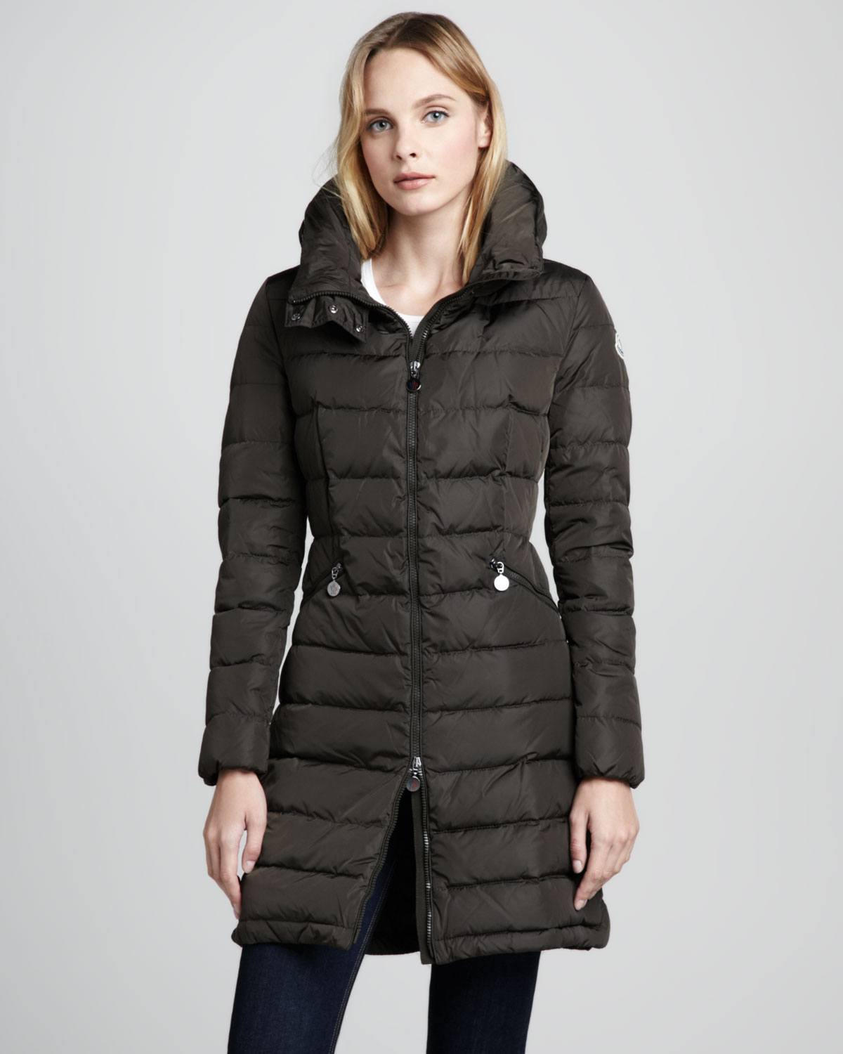 Moncler Flamme Puffer Coat in Black - Lyst