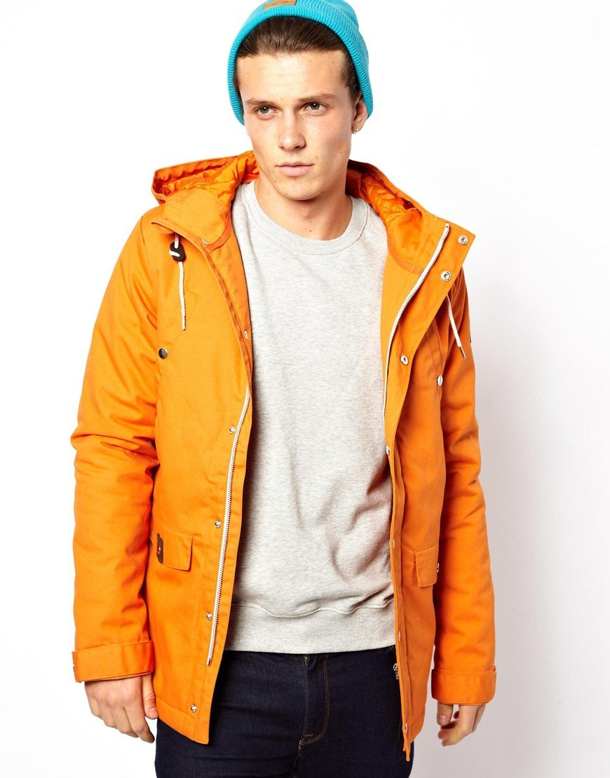 Asos Revolution Parka Jacket in Orange for Men | Lyst