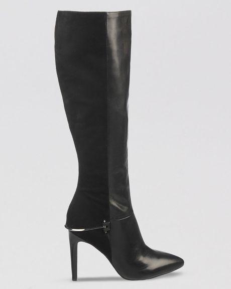sam edelman dress boots mazie high heel in black lyst