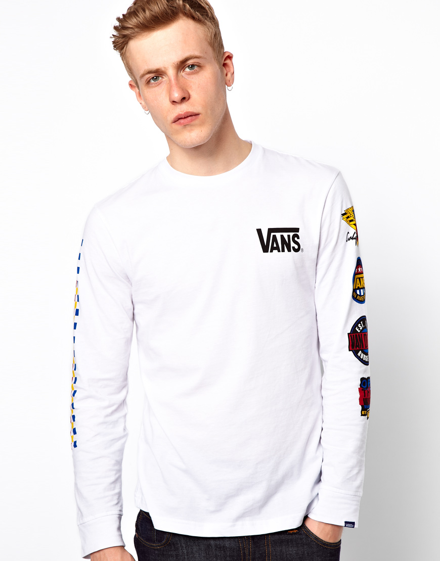 48a063b691 Lyst - Vans Long Sleeve Top California Natives in White for Men